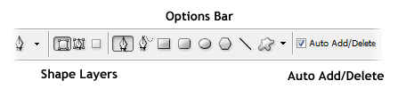 Pen Options (Shape Layers, Auto Add/Delete)