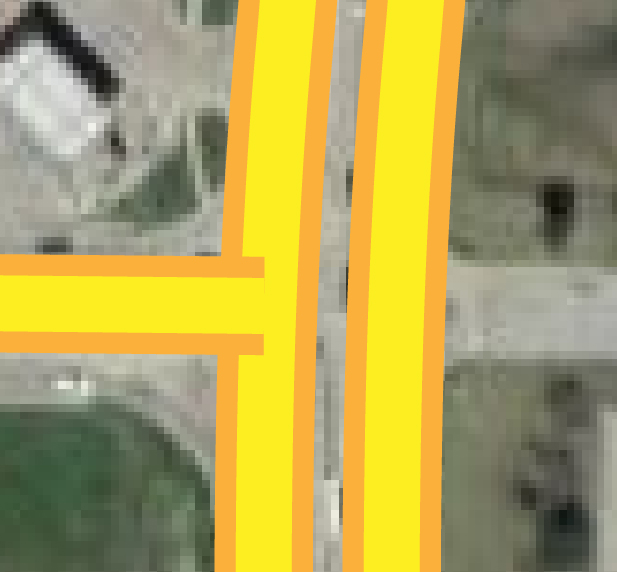 Roads not Aligned