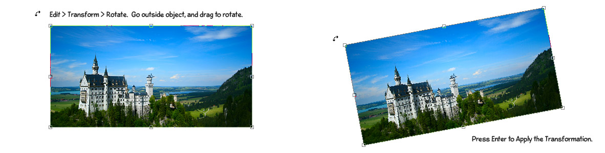 rotate - Using Transform in Photoshop