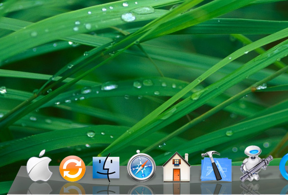 icons - Create the Glass Shelf Dock from Leopard OS in Photoshop