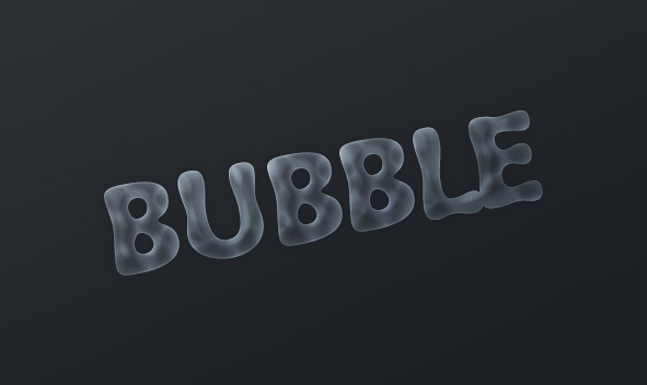 Bubble Text Effect Layer Style