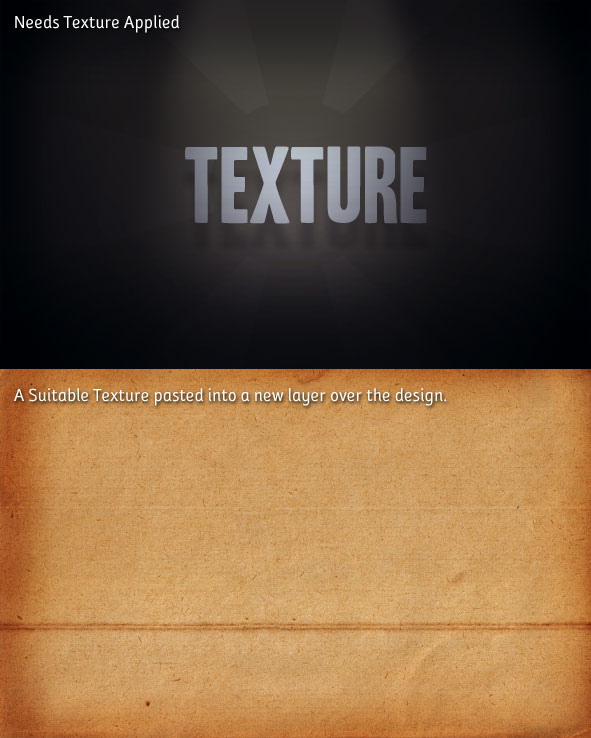 no texture - Add Visual Texture 3 Easy Steps