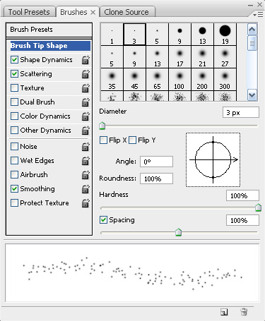 Scatter Brush Spacing