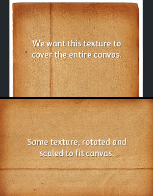 Transform the texture to fit the canvas