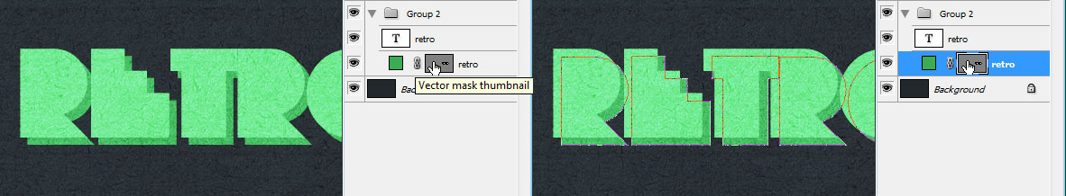 Show the Vector Mask for the Type Shape