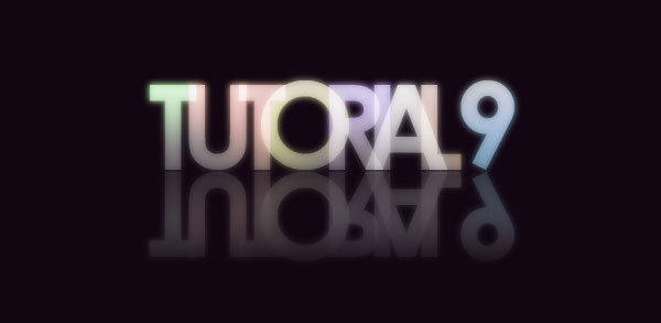 reflection - Colorful Glowing Text Effect in Photoshop