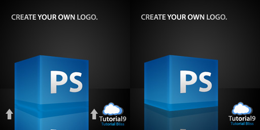 reflection2 - Create a 3D Glossy Box Logo in Photoshop