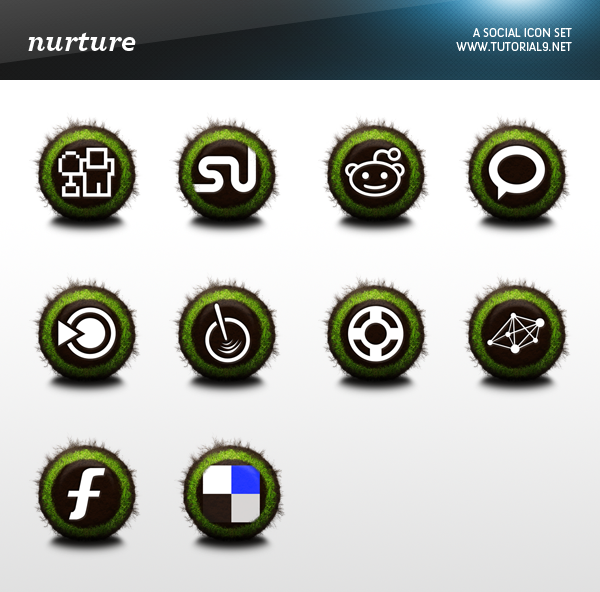 Free Social Icon Pack: Nurture | Tutorial9