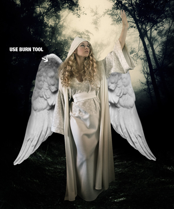 step10b - Create a Divine Angel Montage in Photoshop