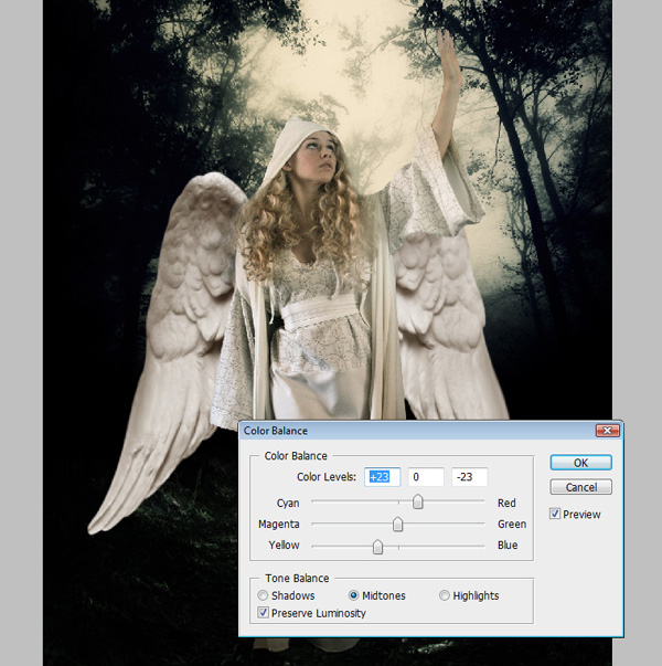 step11a - Create a Divine Angel Montage in Photoshop
