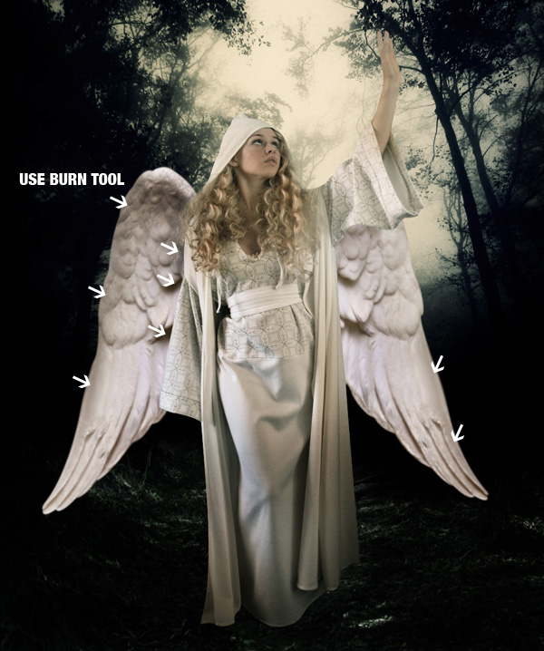 step11b - Create a Divine Angel Montage in Photoshop
