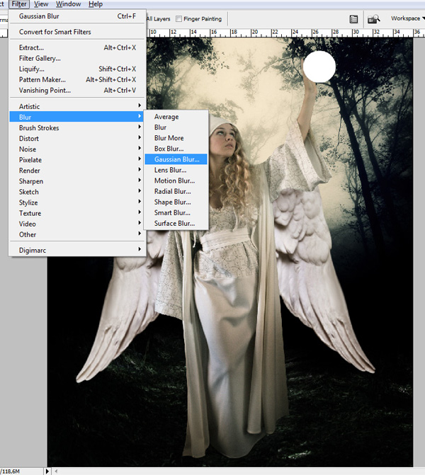 step12a - Create a Divine Angel Montage in Photoshop