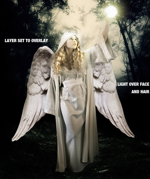 step14b - Create a Divine Angel Montage in Photoshop