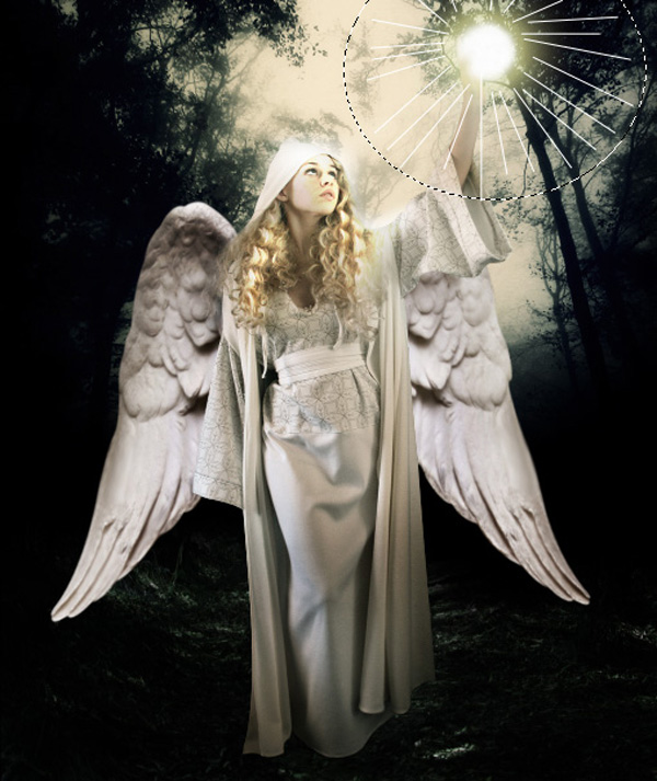 step15 - Create a Divine Angel Montage in Photoshop