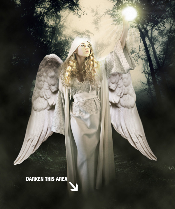 step19 - Create a Divine Angel Montage in Photoshop