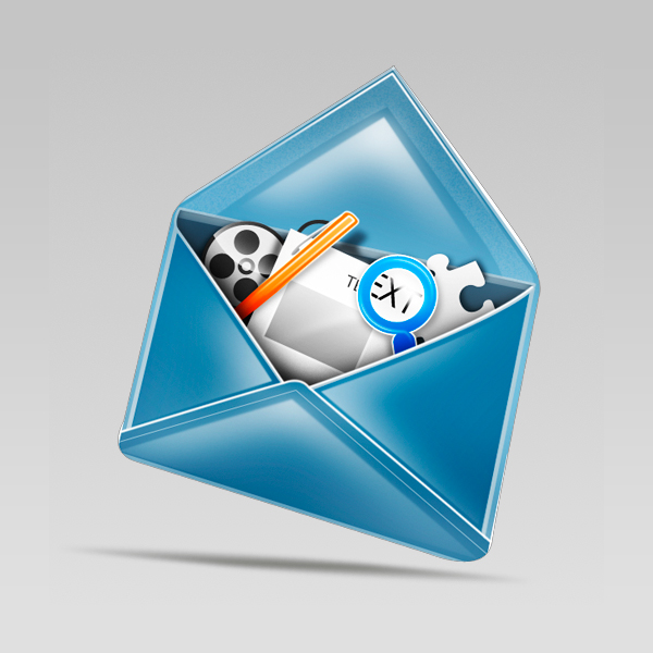 final result small - Design a Stylish Mail Icon in Photoshop