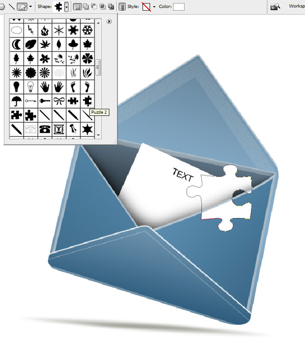 step13a - Design a Stylish Mail Icon in Photoshop