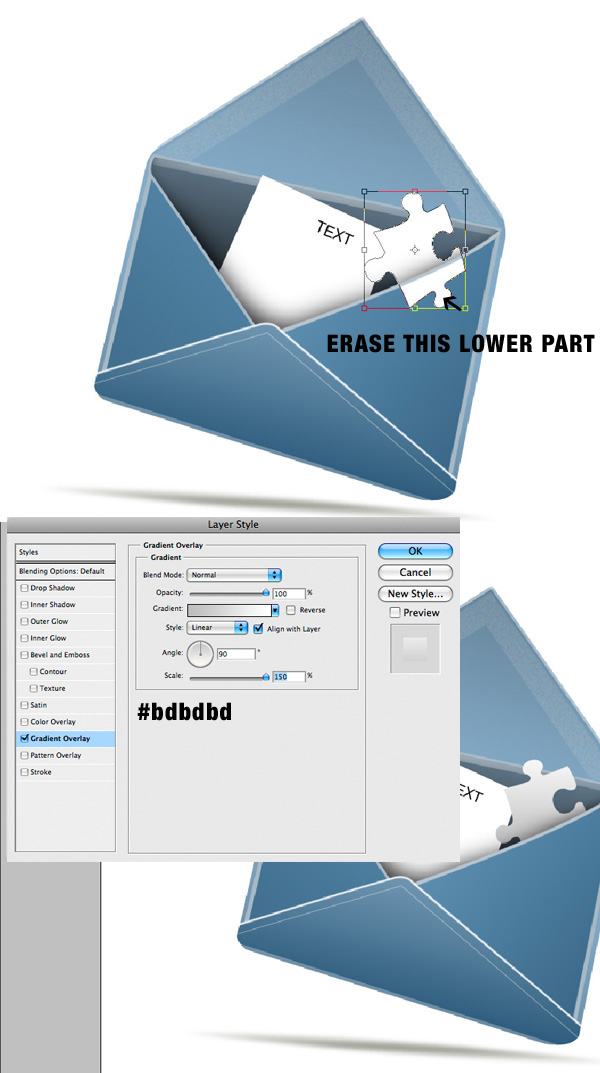 step13b - Design a Stylish Mail Icon in Photoshop