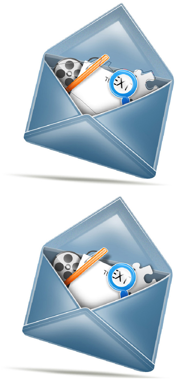 step20 - Design a Stylish Mail Icon in Photoshop