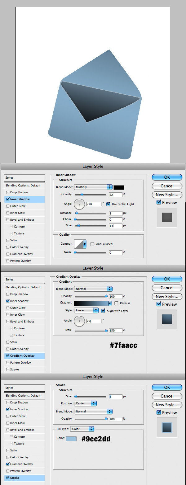 step5 - Design a Stylish Mail Icon in Photoshop