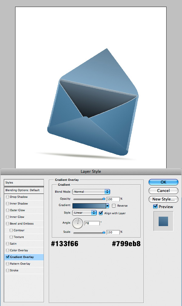 step8 - Design a Stylish Mail Icon in Photoshop
