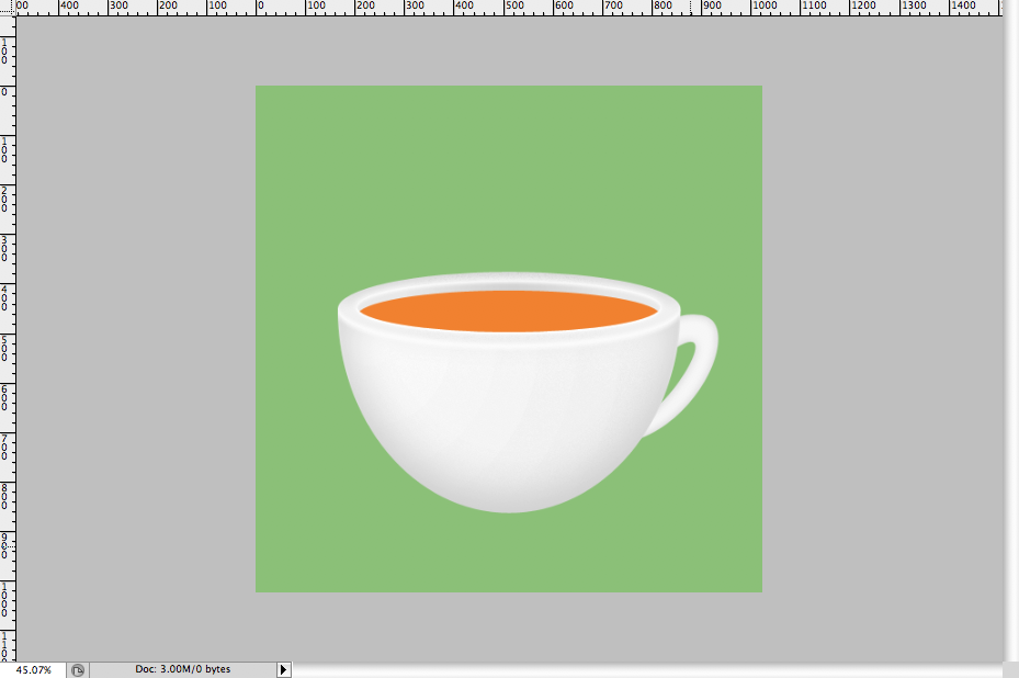23 - Simple Coffee Cup Icon Photoshop Tutorial