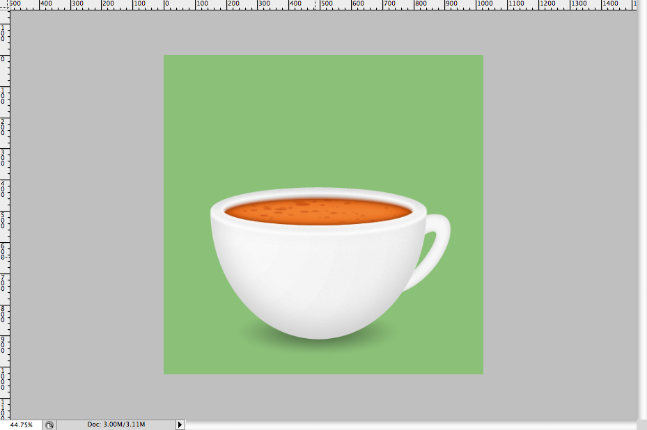 31 - Simple Coffee Cup Icon Photoshop Tutorial