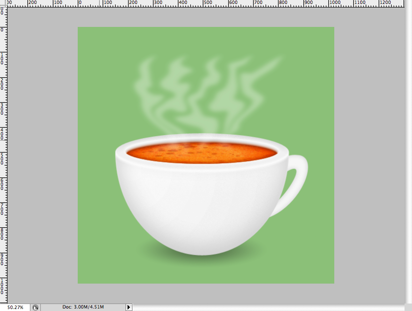 34 - Simple Coffee Cup Icon Photoshop Tutorial