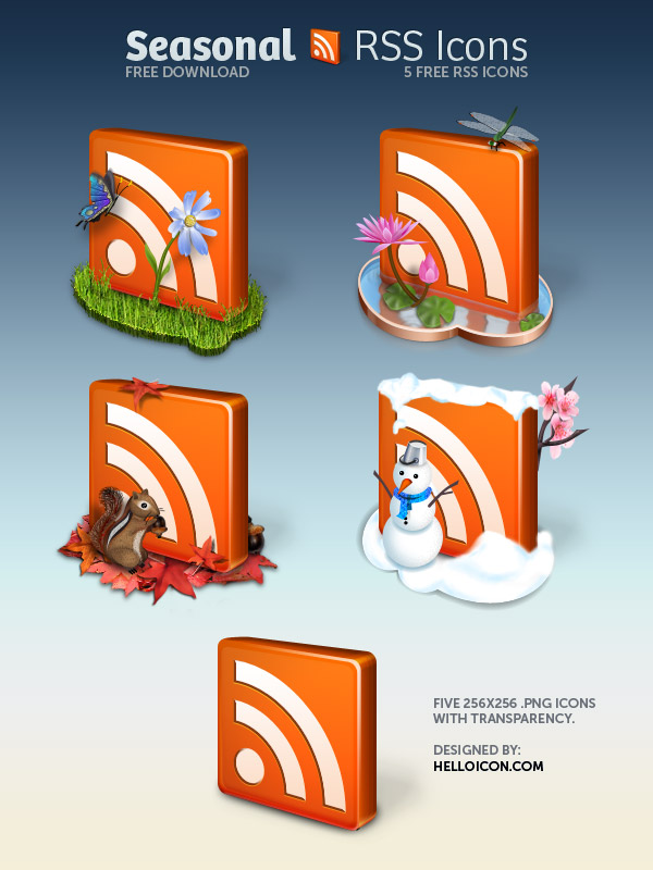Seasonal RSS Icons Preview