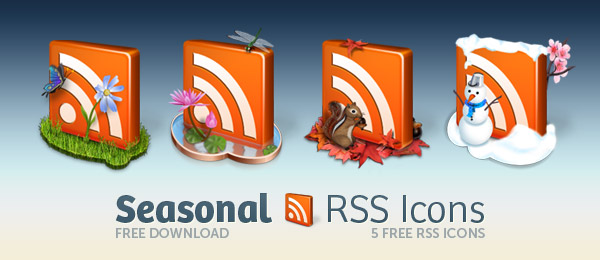 seasonal rss icons lead Most Beautiful Rss Icons On The Web
