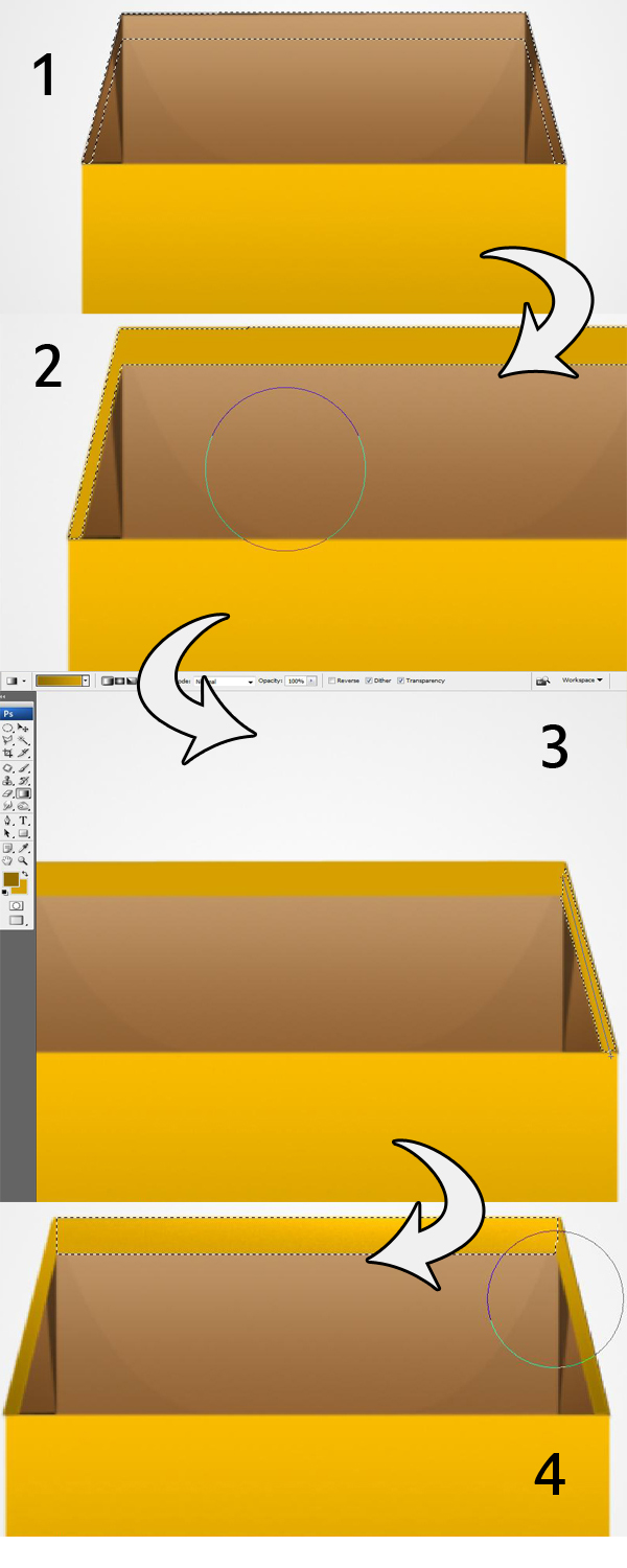 15 16 17 18 - Design a 3D Box Icon in Photoshop