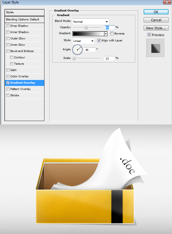 40 - Design a 3D Box Icon in Photoshop