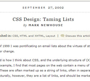 Taming Lists