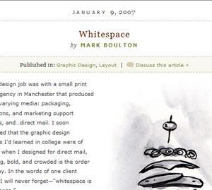 A List Apart Whitespace