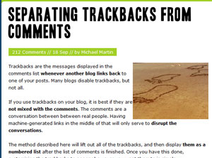 Separate Comments from Trackbacks