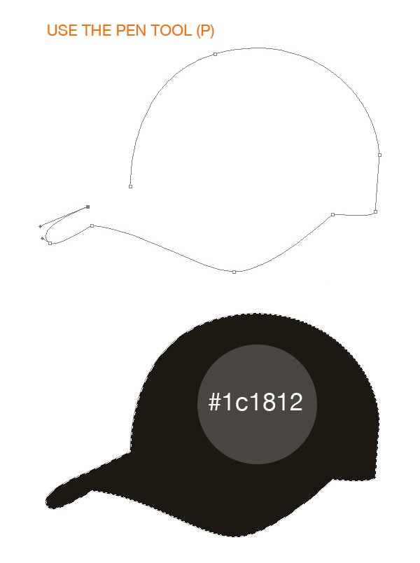 step1 - Design a Realistic 3D Baseball Cap in Photoshop