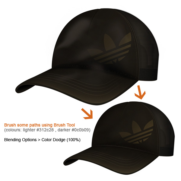 step11 - Design a Realistic 3D Baseball Cap in Photoshop