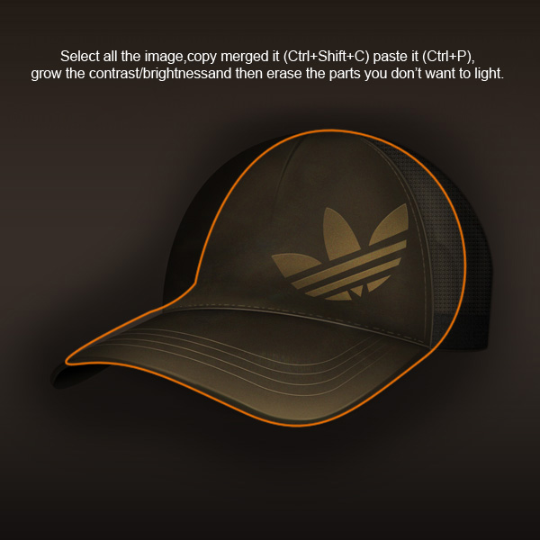 step13 - Design a Realistic 3D Baseball Cap in Photoshop