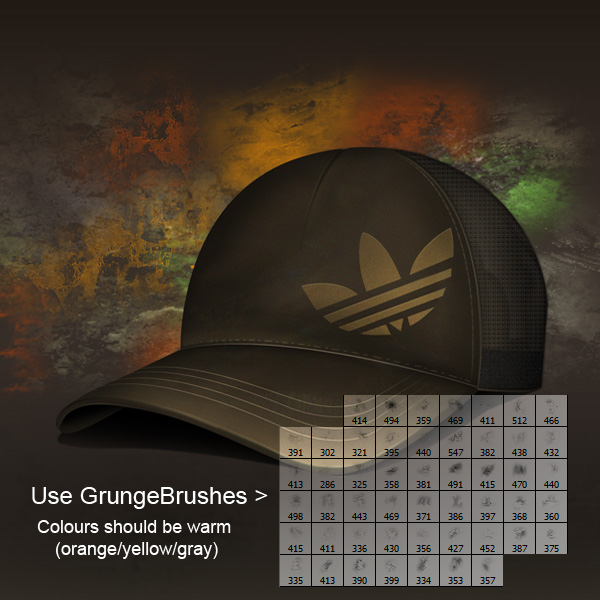 step15 - Design a Realistic 3D Baseball Cap in Photoshop
