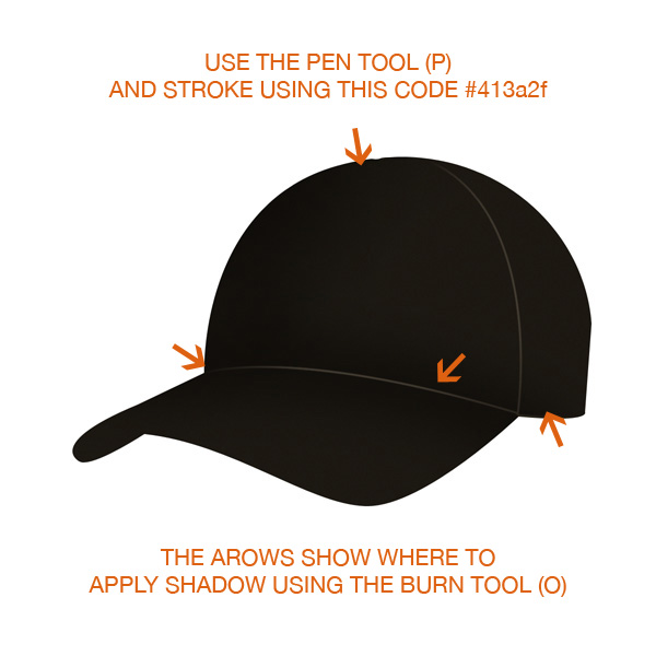 step2 - Design a Realistic 3D Baseball Cap in Photoshop