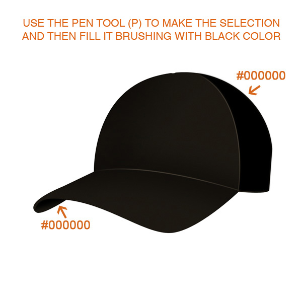 step3 - Design a Realistic 3D Baseball Cap in Photoshop