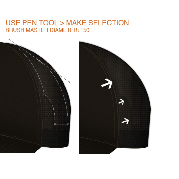 step7 - Design a Realistic 3D Baseball Cap in Photoshop
