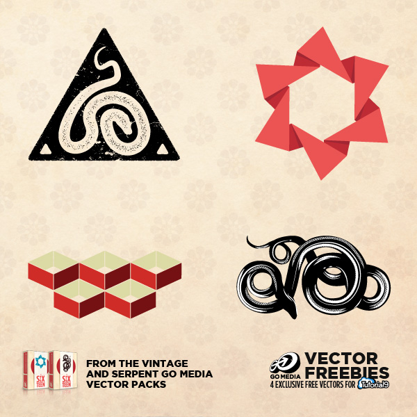 4 new Vector Freebies from Tutorial9, only available for Free on Tutorial9
