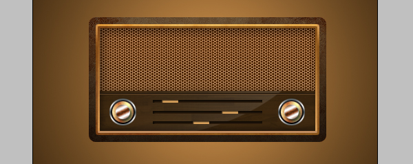 15 - Design a Vintage Radio Icon in Photoshop