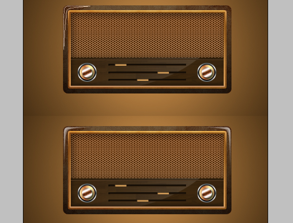 16 - Design a Vintage Radio Icon in Photoshop