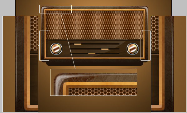 18 - Design a Vintage Radio Icon in Photoshop