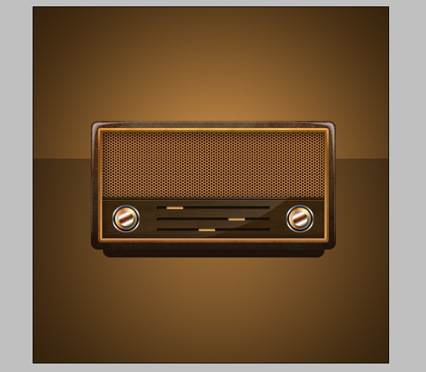 19 - Design a Vintage Radio Icon in Photoshop