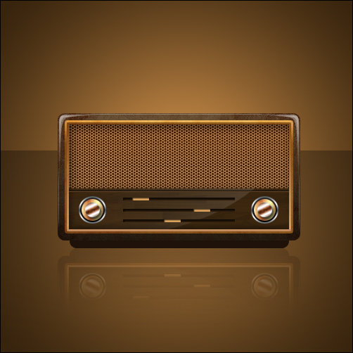20 - Design a Vintage Radio Icon in Photoshop