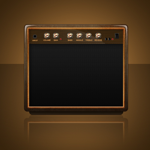 Guitar20Combo - Design a Vintage Radio Icon in Photoshop