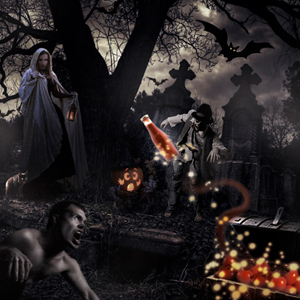Photo Montaging Halloween Theme